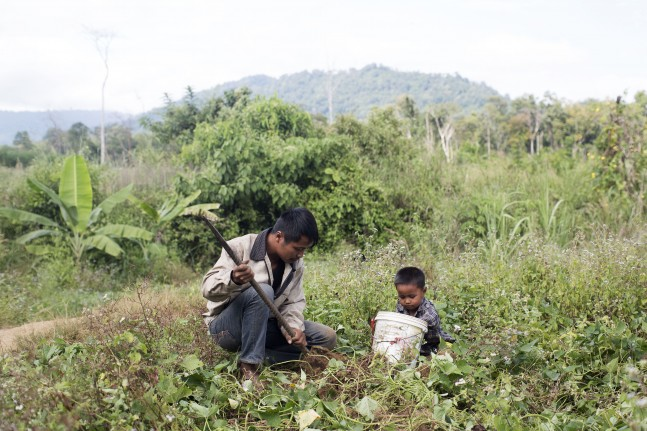 Rithsankan, a father and soya bean farmer who regularly suffers from malaria, Cambodia