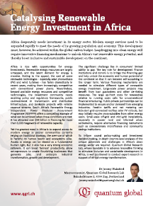 Quantum Global Renewable Energy Africa