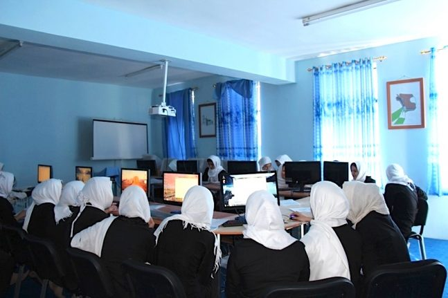 A DCF classroom based in Herat