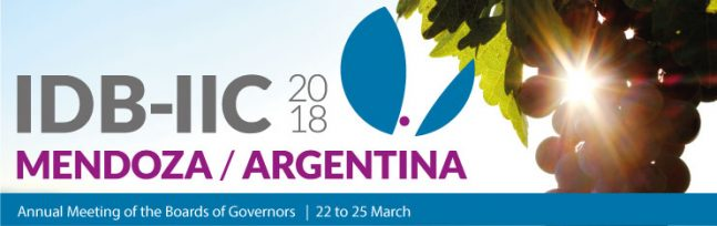 Inter-American Development Bank (IDB) and the Inter-American Investment Corporation (IIC) Annual Meeting @ Mendoza | Mendoza Province | Argentina
