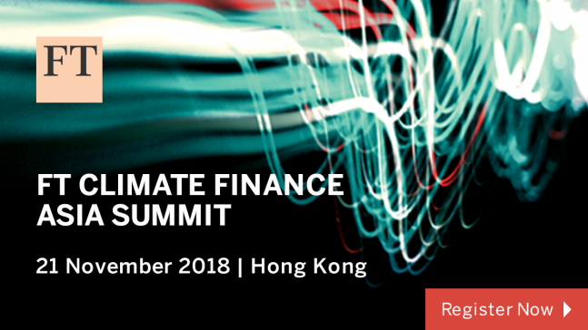 FT Cimate Finance Asia Summit @ Four Seasons | Hong Kong Island | Hong Kong